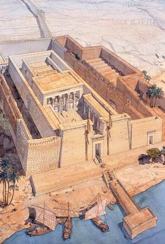 Egypt - Temple of Kalabsha- jeanclaudegolvin.com