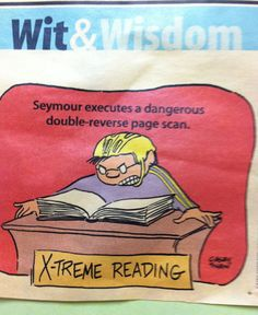 X-treme Reading: the double reverse page scan.