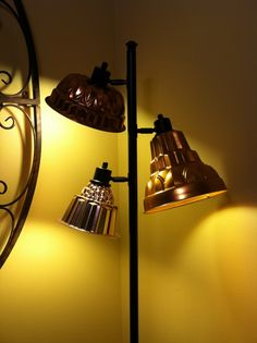 Repurposed Jello Molds as Lamp Shades