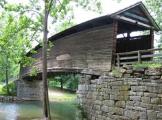 humpback covered bridge Dunlap Creek - Covington vicinity, Virginia, USA