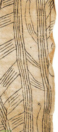 Pygmy/Mbuti Barkcloth Ituri Rainforest DR Congo African - Barkcloth - Textiles