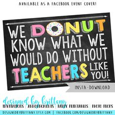 Instant download  Teacher Appreciation 1/2 by DesignedbyBrittany