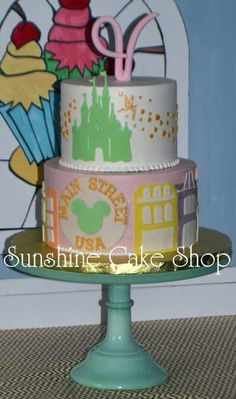 Disney Main Street Theme Cake