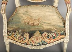 Pair of 18th Century Louis XVI Chairs | From a unique collection of antique and modern armchairs at http://www.1stdibs.com/furniture/seating/armchairs/