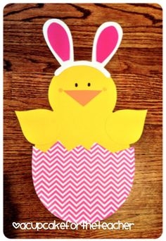 What's Hatchin'? Craftivity & Printables.. make it with or without bunny ears for spring/Easter!!
