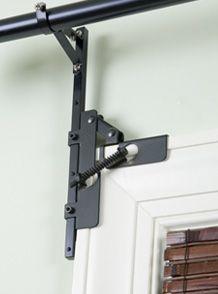 f i n a l l y a reveal post no drill curtain rod brackets curtains dyi decor pinterest. Black Bedroom Furniture Sets. Home Design Ideas