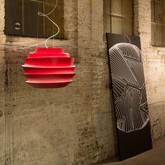 Foscarini | Soleil | Red pendant light at Clerkenwell Design Week 2013 | #CDW2013