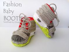 Crochet Yeezy : Yeezy 2 Baby Booties Crochet Yeezy boost crochet by LDreams