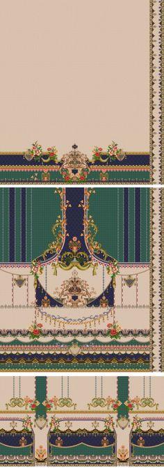Textile Patterns, Textile Design, Textiles, Border Design, My Design, Design Seeds, Album Design, Digital, Wallpaper