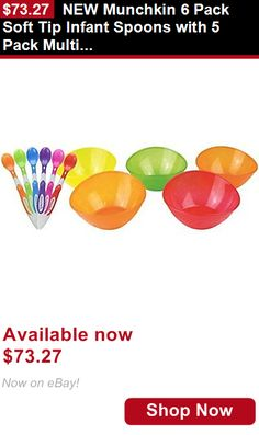 Baby Utensils: New Munchkin 6 Pack Soft Tip Infant Spoons With 5 Pack Multi Bowl Set BUY IT NOW ONLY: $73.27