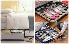 Guardar zapatos debajo de la cama