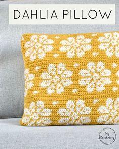 DAHLIA PILLOW – free crochet pattern