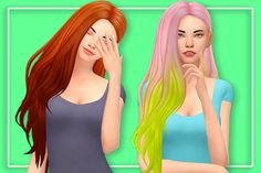 "butterscotchsims: "" I got multiple requests to release the hair in this post so here it is, with a few extras thrown in :) Requires @kotcatmeow re-texture here and the mesh here • 10 swatches •..."