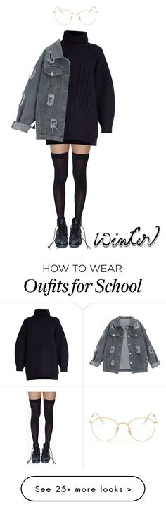 """winterr"" by arctichills on Polyvore featuring Leg Avenue, Acne Studios and Ray-Ban"