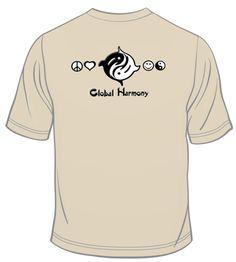 Our Global Harmony Logo large on the back Logo, Long Sleeve, Sleeves, Mens Tops, T Shirt, Fashion, Supreme T Shirt, Moda, Logos