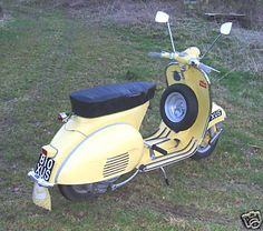 A rare British-built (by Douglas of Bristol) Vespa 152L2 scooter, 1961.