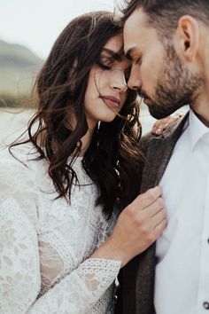 We've Got Heart Eyes for the Subtle Beauty in This Barrier Lake Elopement Inspiration Stunning and emotional couple portrait Couple Photography Poses, Couple Portraits, Lake Photography, Friend Photography, Maternity Photography, Wedding Poses, Wedding Couples, Wedding Ceremony, Wedding Dresses