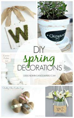 DIY Spring Decorations...