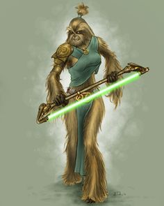 I wanted to see what a Wookiee Jedi would look like. So, why not a female, Wookiee, Jedi!? In anticipation of Star Wars: The Old Republic mmorpg, and the 3rd season of The Clone Wars I find myself ...
