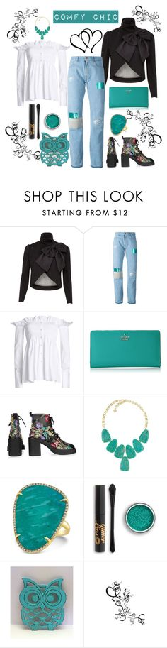 """""""Comfy Chic"""" by loves-elephants ❤ liked on Polyvore featuring Alice + Olivia, Aries, Victoria, Victoria Beckham, Kate Spade, Topshop, Kendra Scott and Anne Sisteron"""