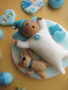 Baby Shower Cupcake Topper Single Baby by mimicafeunion on Etsy, $15.00