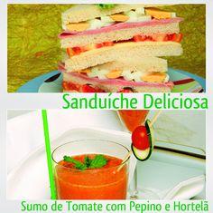 Sanduíche Deliciosa e Sumo de Tomate com Pepino e Hortelã - Clique na imagem para encontrar as receitas