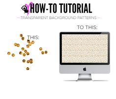 How to make transparent background patterns