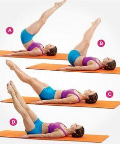 The 20-Minute Pilates Workout: 4 Weeks to a Bikini Body #Pilates
