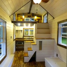 This is a 12 wide tiny house on wheels called the Nuns House