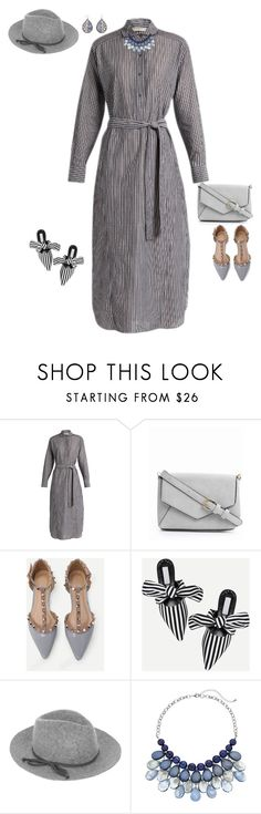 """""""GRAY OUTFIT"""" by gyhulm on Polyvore featuring Vince, Urban Expressions, WithChic, Accessorize, Erica Lyons, shirtdress and Stripey"""