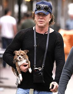 """I'd like to thank all my dogs, the ones who are here and the ones who aren't here anymore. Sometimes, when a man is alone, that's all you got is your dog. And they've meant the world to me."" — Mickey Rourke, during his acceptance speech at the 2009 Golden Globes"
