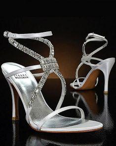Shop designer Stuart Weitzman wedding shoes at My Glass Slipper. Stilettos, High Heels, Stuart Weitzman, Crazy Shoes, Me Too Shoes, Most Expensive Shoes, White Bridal Shoes, Diamond Shoes, Le Pilates