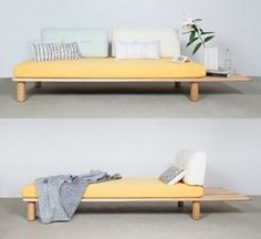 Sofa Bed - Furniture Buying And Taking Care Of Your Home Furnishings Minimalist Bed, Minimalist Furniture, Sofa Futon, Daybed, Cama Tatami, Sofa Furniture, Furniture Design, Cheap Furniture, Discount Furniture