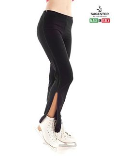 df6d4a93bf Buy Sagester # 520 / Italy Hand-Made/Figure Ice Skating Pants, Zip on  Sides, Black