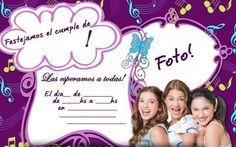 Invitaciones cumpleaños Violetta: fotos diseños para imprimir