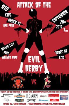 Cheyenne Capidolls Roller Derby September Poster, By: Sarah Hedlund