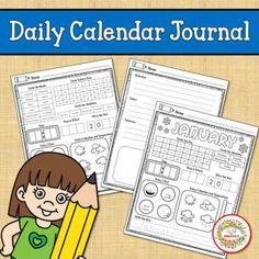 Daily Calendar Journal by Sweetie's   Teachers Pay Teachers Calendar Journal, Daily Calendar, Counting Activities, Teacher Organization, Elementary Math, Learning Resources, My Teacher, Teaching Math, Math Lessons