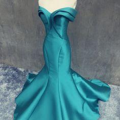 Stylish mermaid fomal charming satin long evening dress, fs8365