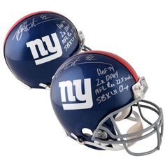 Michael Strahan New York Giants Fanatics Authentic Autographed Riddell Pro-Line Helmet with Multiple Career Inscriptions - $999.99