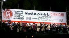 El Coro de la Dignidad ha cerrado las #MarchasDignidad22M con una emocionante versión indignada del #HimnoDeLaAlegría