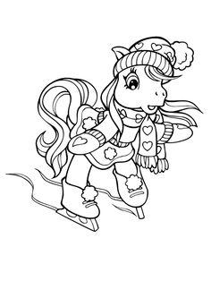 Petit poney à la patinoire