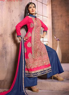 http://www.sareesaga.in/index.php?route=product/product&product_id=27903 Work:Embroidered Resham Work Style:Salwar suit Shipping Time:10 to 12 Days Occasion:Party Festival Fabric:Georgette Colour:Hot Pink For Inquiry Or Any Query Related To Product, Contact :- +91-9825192886, +91-7405449283