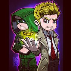 """""""Friendship is Magic"""" ✨✨✨ I initially sketched the idea of this which eventually sparked the idea for my """"Spin-the-Bottle"""" illo…Just a peak into my thinking process! #arrow #greenarrow #stephenamell #mattryan #johnconstantine #oliverqueen..."""