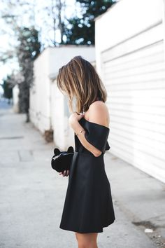 Simple in black.