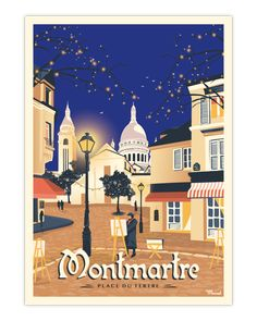 Art Deco Posters, Room Posters, Poster Wall, Illustration Parisienne, Paris Illustration, Illustrations, France Art, Ville France, Place Du Tertre