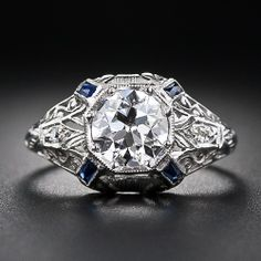 .97 Carat Early Art Deco Diamond Engagement Ring