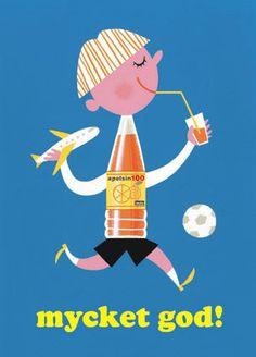 Poster Takashi Furuya - Mycket god bleu - Takashi Furuya, Mes Habits Chéris - kidstore Récréatif - Décoration enfant