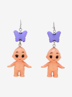 Weird Jewelry, Funky Jewelry, Cute Jewelry, Kids Jewelry, Jewelry Ideas, Jewelry Box, Cute Earrings, Beaded Earrings, Drop Earrings