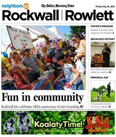 05/25: Founder's Day in Rockwall celebrates 158 years of history.  http://www.neighborsgo.com/stories/83434