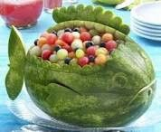 Watermellon fish. Party food.